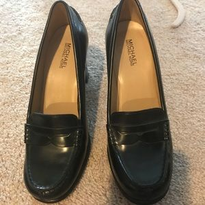 Michael Koros heeled penny loafers